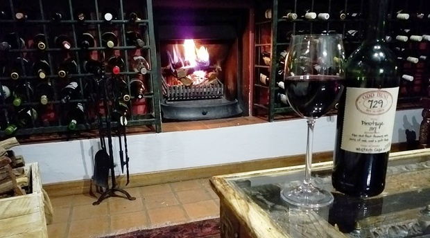 Clarens self catering guesthouse Mont Rouge fireplace