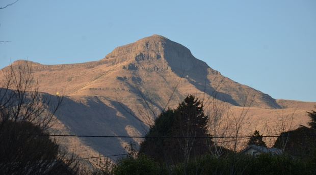 Spectacular view of Mount Horeb from The Attic self catering accommodation at Mont Rouge guest house